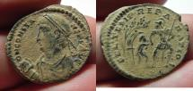 Ancient Coins - BEAUTIFUL AS FOUND. CONSTANS AE CENT.