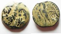 Ancient Coins - BEAUTIFUL DESERT PATINA: PTOLEMAIC KINGDOM. PTOLEMY II AE 26. COUNTERMARKED