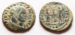 Ancient Coins - Severus II, 306-307 AD. AE Radiate Fraction. Alexandria mint.