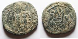 Ancient Coins - AS FOUND: BYZANTINE. CONSTANS II AE FOLLIS.