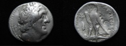 Ancient Coins - Ptolemaic kings. Ptolemy II Philadelphos (282-246 BC). AR tetradrachm (26mm, 13.72g). Tyre mint. Struck c. 274 BC.