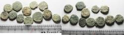 Ancient Coins - JUDAEA. LOT OF 12 AS FOUND BRONZE PRUTOT COINS