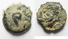Ancient Coins - JUDAEA. PONTIUS PILATE AE PRUTAH. AS FOUND