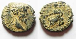 Ancient Coins - CHOICE: ORIGINAL DESERT PATINA: ARABIA. PETRA. SEPTIMIUS SEVERUS AE 25