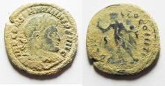 Ancient Coins - AS FOUND. ORIGINAL DESERT PATINA: CONSTANTINE I AE FOLLIS