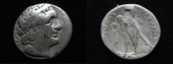 Ancient Coins - Ptolemaic kings. Ptolemy II Philadelphos (282-246 BC). AR tetradrachm. Tyre mint. Struck in regnal year 24 (262/1 BC).