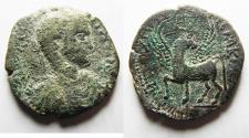 Ancient Coins - A MEDALLION? BEST EXAMPLE EVER:  Decapolis. Antiochia ad Hippum under Elagabalus (AD 218-222). AE 32mm, 17.37g