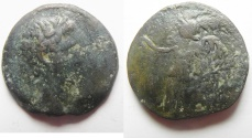 Ancient Coins - Egypt. Alexandria under Augustus (27 BC-AD 14). AE diobol (22mm , 7.03g). Struck in regnal year 42 (AD 11/12).