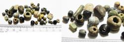 Ancient Coins - ANCIENT ROMAN. LOT OF GLASS BEADS. 100 - 200 A.D
