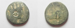 Ancient Coins - Phoenicia, Tyre ? OR SIDON ? Pseudo-Autonomous Issue. 100 A.D.  star Countermark