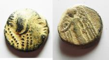Ancient Coins - NABATAEAN KINGDOM. ARETAS III OR III AE 20. DAMASCUS MINT