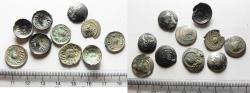 Ancient Coins - SOUTH ARABIA. Himyarite Kingdom. LOT OF 10 SILVER COINS. NEEDS CLEANING