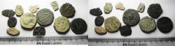 Ancient Coins - AS FOUND. BYZANTINE . LOT OF 12 AE COINS
