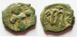 Ancient Coins - ARAB-BYZANTINE AE FALS. IMITATING CONSTANS II FOLLIS