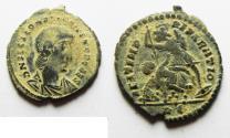 Ancient Coins - CONSTANTIUS GALLUS AE 3 . DESERT PATINA. ROME MINT