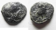 Ancient Coins - ARABIA, Southern. Saba'. Late 4th–mid 2nd centuries BC. AR tmrt – Quarter Unit (12mm, 1.09 g). Imitating Athens.