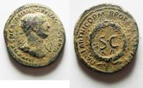 Ancient Coins - Trajan 117-138 A.D. As . For circulation in Syria. ROME MINT