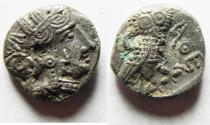 Ancient Coins - ARABIA, Southern. Saba'. Late 4th–mid 2nd centuries BC. AR nusf – Unit