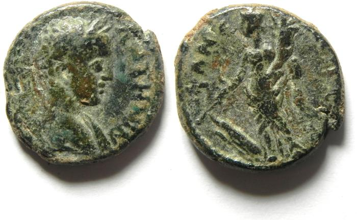 Ancient Coins - JUDAEA , SAMARIA , NEAPOLIS - ELAGABALUS , NICE AND SCARCE COIN