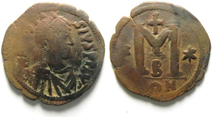 Ancient Coins - ANASTASIUS AE FOLLIS , NICE