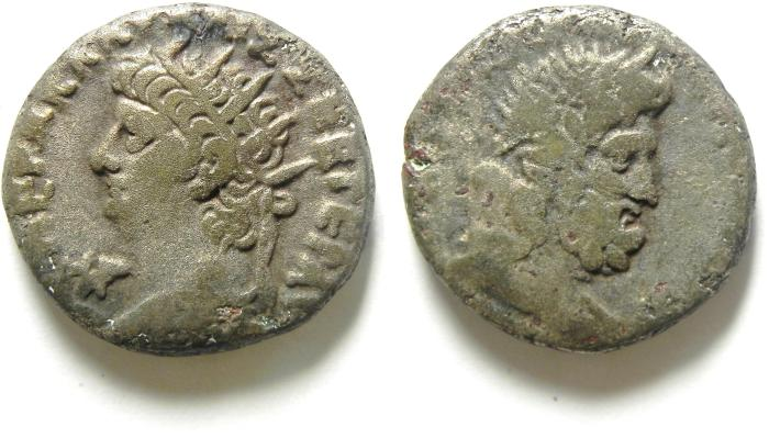 Ancient Coins - ALEXANDRIA , EGYPT, TETRADRACHM OF NERO