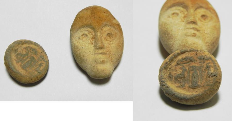 Ancient Coins - ANCIENT ROMAN. LOT OF 2 TERRACOTTA RELICS. 100 - 200 A.D