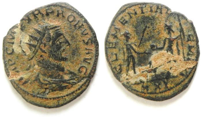 Ancient Coins - PROBUS ANTONINIANUS , BROKEN