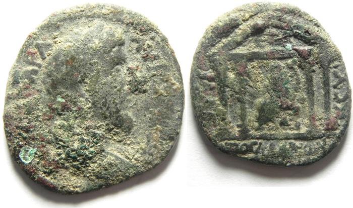 Ancient Coins - DECAPOLIS , GADARA , ANTONINUS PIUS AE 29 , AS FOUND, NICE QUALITY!! - for the proffisional cleaners!