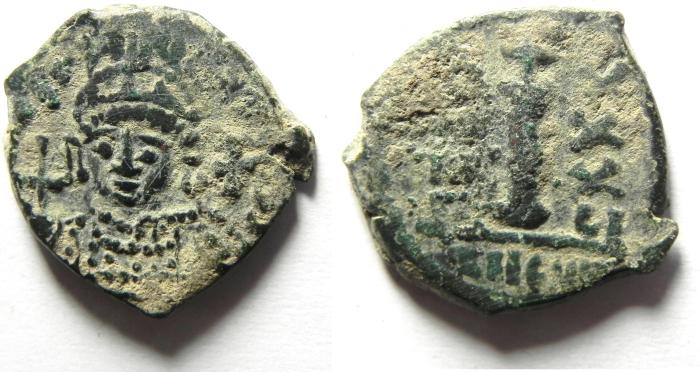 Ancient Coins - Byzantine Empire. Justinian I, AD 527-565. AE decanummium, BEAUTIFULL AS FOUND!!!!