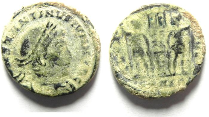 Ancient Coins - CONSTANTINE II AE 3 , AS FOUND