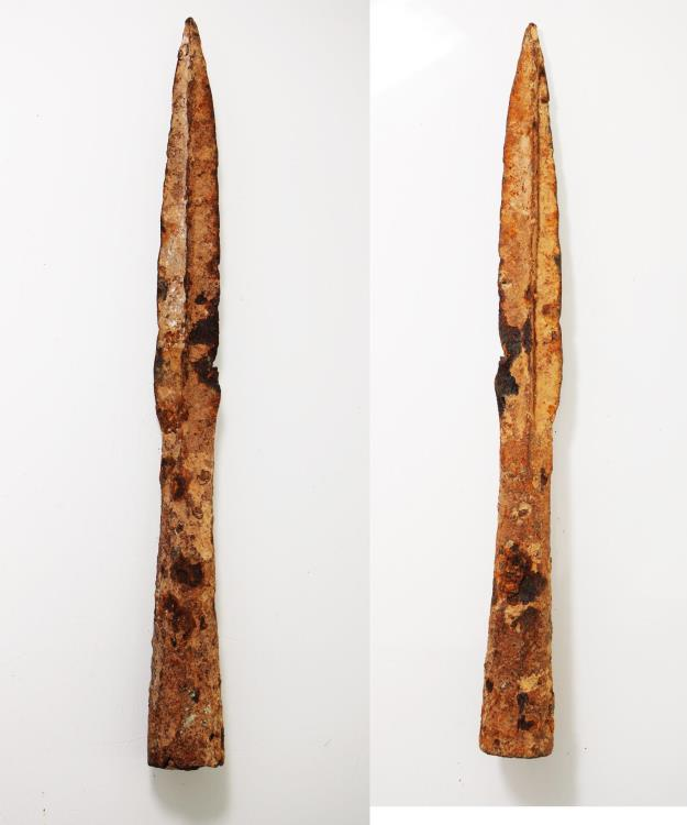 Ancient Coins - ANCIENT LURISTAN IRON LONG SPEAR HEAD. 1200 - 900 B.C.  EARLIEST IRON WEAPONS MADE.