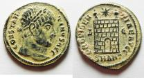 Ancient Coins - ORIGINAL DESERT PATINA: CONSTANTINE I THE GREAT AE 3. CAMP GATE. ANTIOCH MINT