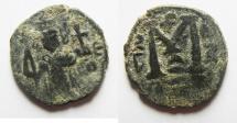 Ancient Coins - ISLAMIC. Ummayad caliphate. Arab-Byzantine series. AD 650-700. AE fals.Pseudo-Damascus mint.