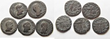 Ancient Coins - Indo - greek , Bactrian , Apollodotus II 110-80 BC.  LOT OF 5 AR Drachms of Taxila