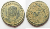 Ancient Coins - CONSTANTIUS GALLUS AE CENT. CONSTANTINOPLE MINT. AS FOUND