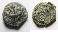Ancient Coins - AS FOUND: Ancient Biblical Widow's Mite Coin of Alexander Jannaeus