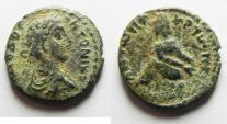 Ancient Coins - Apparently unpublished denomination : Decapolis. Gerasa under Elagabalus (AD 218-222). AE 17mm, 3.33gm