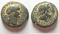 Ancient Coins - NICE QUALITY: Judaea. Phoenicia. Trajan . Dora AE 22