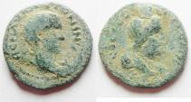 Ancient Coins -  Judaea. Aelia Capitolina under  Elagabalus (AD 218-222). AE 21mm