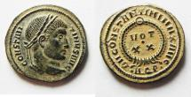 Ancient Coins - BEAUTIFUL & CHOICE CONSTANTINE I AE 3 . AS FOUND
