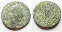 Ancient Coins - SEVERUS ALEXANDER. IONIA. EPHESUS AE 28, COUNTERMARKED