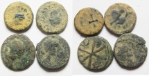 Ancient Coins - LOT OF 4 AE 4 ROMAN COINS