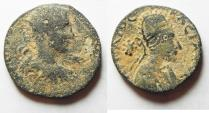 Ancient Coins - Mesopotamia, Edessa. Gordian III, with Abgar X Phraates. AD 238-244