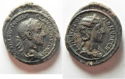 Ancient Coins - MINT STATE. HUGE FLAN: Struck in Rome for circulation in Alexandria