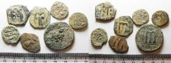 Ancient Coins - AS FOUND. LOT OF 7 BYZANTINE - ISLAMIC BRONZE COINS