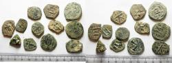 Ancient Coins - LOT OF 12 ANCIENT BRONZE BYZANTINE COINS