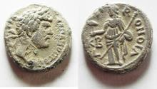 Ancient Coins - Egypt. Alexandria under Hadrian (AD 117-138) Billon tetradrachm (23mm, 12.89g) Struck in regnal year 22 (AD 137/8).