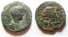 Ancient Coins - NICE QUALITY: JUDAEA. Samaria. Neapolis. Philip II. AD 247-249. Æ 27
