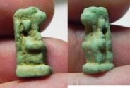 Ancient Coins - ANCIENT EGYPT. FAIENCE THOTH AMULET. 600 - 300 B.C
