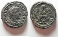 Ancient Coins - EXCEPTIONAL COIN: Egypt. Alexandria under Gordian III (AD 238-244). Billon tetradrachm (23mm, 15.00g). Struck in regnal year 7 (AD 243/4).